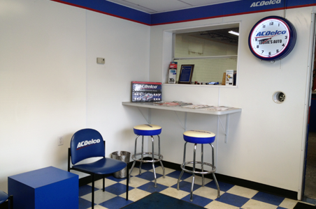 If you prefer to wait for your car's oil change or your truck's state inspection, have a seat in our clean comfortable waiting room at 230 West 17th Street location.